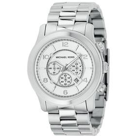 bcac248346f3f Relogio Michael Kors Mk 8098 Oversized Prata Com Dourado - Relógios ...