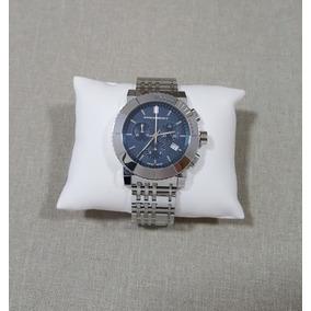 Relógio Burberry Bu2308 Cronógrafo Suíço Em Aço Inox