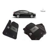 Tapetes Ford Fiesta Titanium En Alfombra Bordado Base Antide