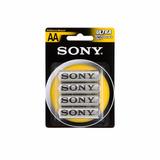 Pila Sony Tipo Aa X 4 Carbon Zinc Nueva Sellada