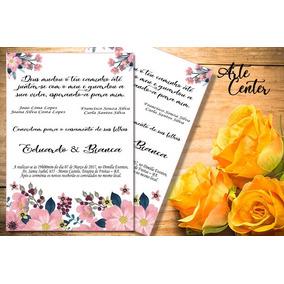 Convite De Casamento Simples 140 Unidade