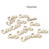 15pcs / Set Vendimia Rústico Estilo Pastel De Madera Mesa Es