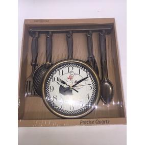 Reloj Dorado De Chef Para Cocina