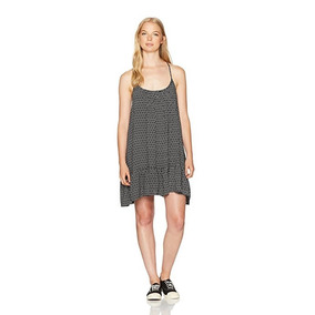 Vestido Volcom Cami Strappy Simple Things Negro Talla M