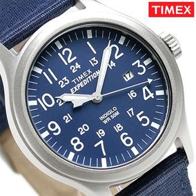 Reloj Para Caballero Timex Expedition Azul Original