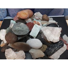Rochas Variadas Pedras Naturais Brutas Restos Retalhos 2,3kg