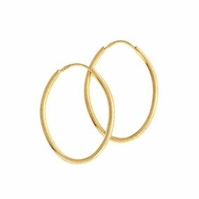 Brinco Argola Oval Ouro 18k - Brincos Ouro no Mercado Livre Brasil b87b7c277b