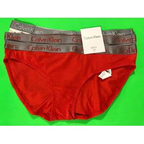 Calvin Klein Bikini Calzón Dama 3pza Original 100% M Rojo