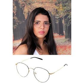 6e807afb535ec Armacao De Oculos Feminino Redondo Geek Outras Marcas - Óculos no ...