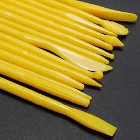 Kit 14 Estecas Fondant Bolo Pasta Modelagem Clay Esculturas