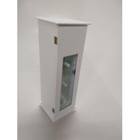 Porta Papel Higiênico E Absorvente C/ Vidro - Mdf