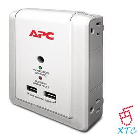 Regulador De Voltaje Protector Apc 4 Tomas 2 Usb P4wusb Xtc