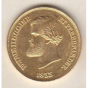 Moeda De Ouro 20.000 Réis 1855 Sob 17,92 Gr 30 Mm R$ 4.200,0