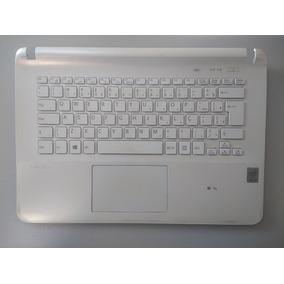 Carcaça Teclado + Touchpad Notebook Sony Svf143b1yx C Detalh