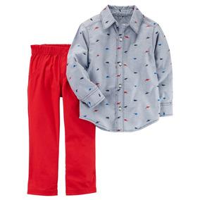 Conjunto De Niño Carters Pantalón Y Camisa 9a479ad2f34a9