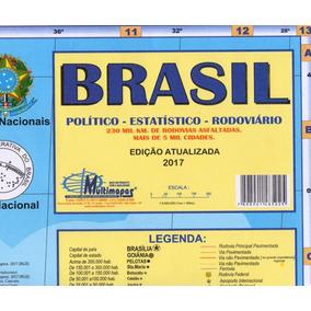 Mapa Brasil 1,20x0,90m Papel Dobrado