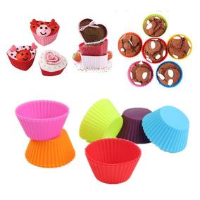 Jogo De Forma De Silicone Mini Bolo Cupcake 12pçs
