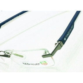 Linda Armação Óculos De Grau Sem Aro Tag Heuer Cinza Silicon ... 0d990c5d77