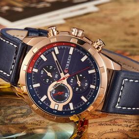 3449b85a53c Relógio Homens Badace Pulseira Em Couro. 1 vendido · Relógio Curren 2019  Marca De Luxo