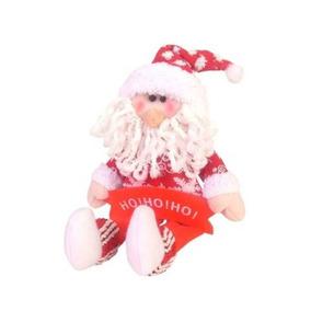 Papai Noel 32cm Com Placa Ho Ho Ho - Natália Christmas