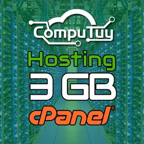 Web Hosting Y Dominio (.ve), Cpanel - 3gb De Espacio X Mes