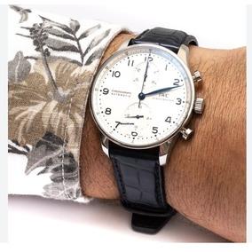 b64df586521 Relogio De Luxo - Iwc Portuguese Chronograph Branco- Goiania