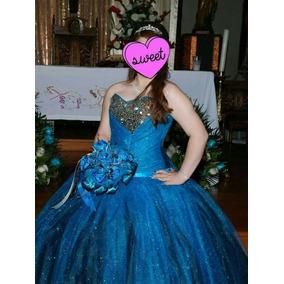 Vestido De Xv Años Princesa Vestido Azul Envio Gratis