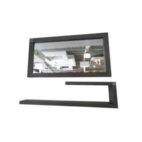 Espejo Moderno Con Consola Madera Oscura Umberto Capozzi