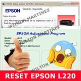 Reset Almohadillas Impresora Epson L220 Solución Inmediata.