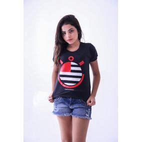 ed6a2394d8 Camisa Vermelha Do Corinthians Feminina - Camisetas Manga Curta no ...