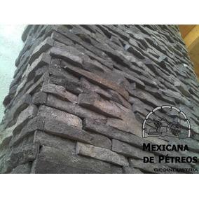 Recinto Volcánico Negro Cara De Piedra Para Fachadas
