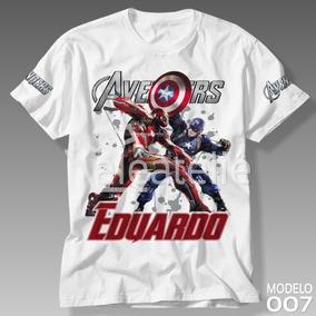 Kit Camisetas Personalizadas Vingadores - Camisetas Manga Curta em ... d55a32c388b51