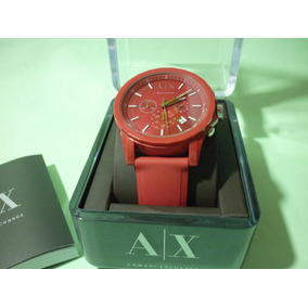 01d092243c88 Reloj Armani Exchange Rojo Hombre - Relojes en Mercado Libre México