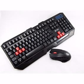 Teclado Mouse Sem Fio Gamer C/led 1600dpi 2.4ghz Sf- X40