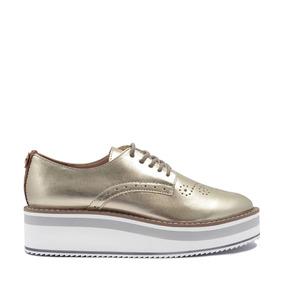Zapato Hispana Con Plantilla Memroy Foam Para Mujer Oro