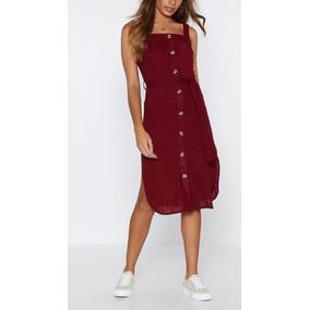 Kit 2 Vestidos Com Botões E Bolsos Frontais Blusa Feminina