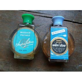 Frascos Antiguos Perfume Locion Hombre Barbero Andre Latour