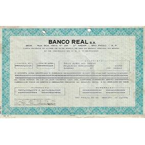Brasil 1979 Título Ação Ordinária Nominativa Do Banco Real