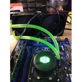 Water Cooler Master Cor 240mm Sem Fan Verde Azul Vermelho