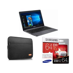 Laptop Asus Vivobook E203ma, Funda Y Micro Sd Samsung 64 Gb