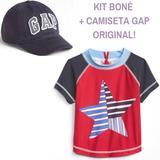 Camisa Praia Piscina Gap + Boné Com Proteção Uv Original 2f23be5cbe5