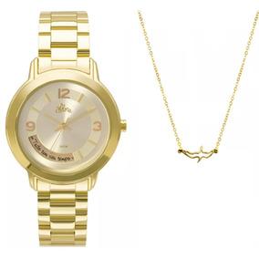 Kit Relógio Feminino Allora Serena Al2315ai/k4x - Dourado