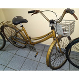 Bicicleta Caloi Ceci Original - Cestinho Anos 80 Dourada 26