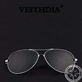 Óculos Veithdia Estilo Aviador Lente Polarizada Em Policarbo ... c46f4afb54