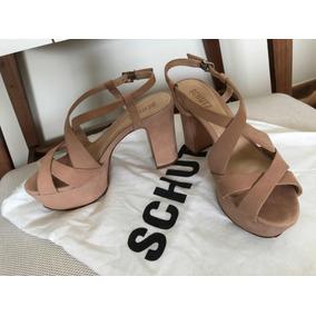 Sandália Plataforma Schultz Nude 35