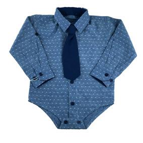 Camisa Social Bebe - Roupas de Bebê Azul escuro no Mercado Livre Brasil 0ec9d93e9dd