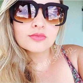 d7574ea02cf38 Oculos Sol Quadrado Grande Marrom - Óculos no Mercado Livre Brasil