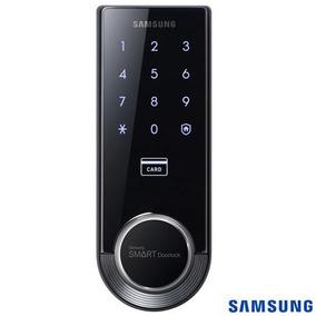 Fechadura Digital Samsung Capacitivo Senha/cartão Shs-3321