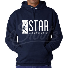 Sudadera Azul Gorro Hombre Star Lab Flash Laboratories