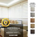 Persianas Sheer Elegance $1,158 M² Wood Look